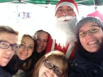 Selfie con Babbo Natale