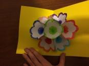 Aprire il biglietto e.. ecco un bellissimo bouquet di fiori pop-up!