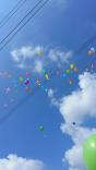 Il lancio dei palloncini :)