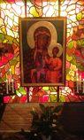 Quadro Madonna Nera all'interno del Santuario